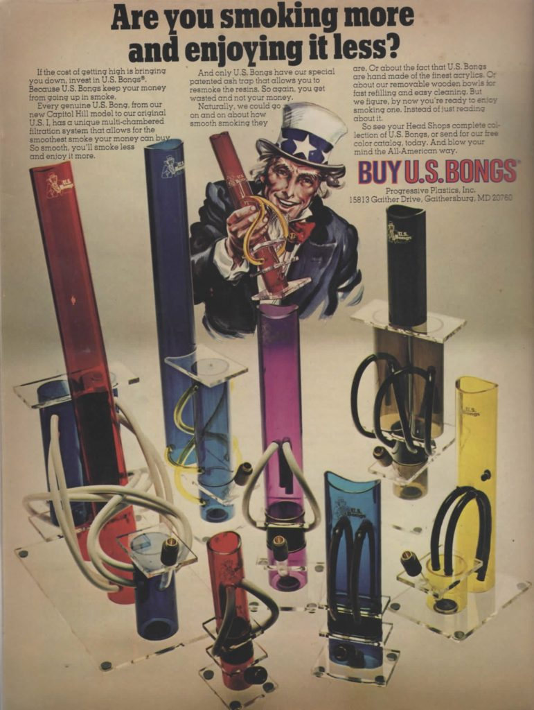 retro us bongs magazine ad