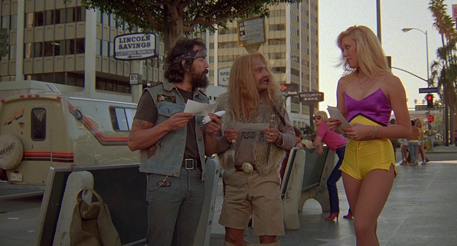 sexy street girl in cheech and chong movie