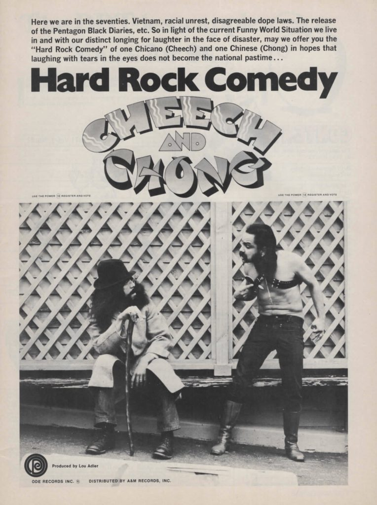 retro cheech and chong magazine ad 1970s