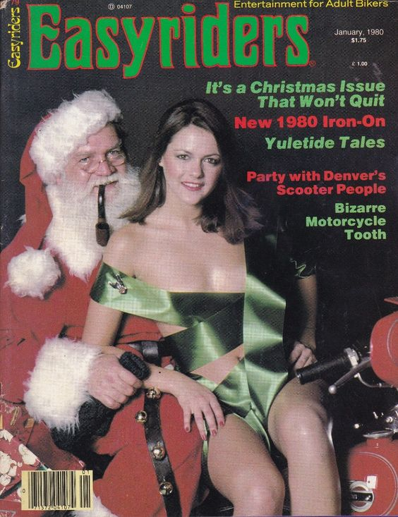 santa motorcycle mag cover easyriders