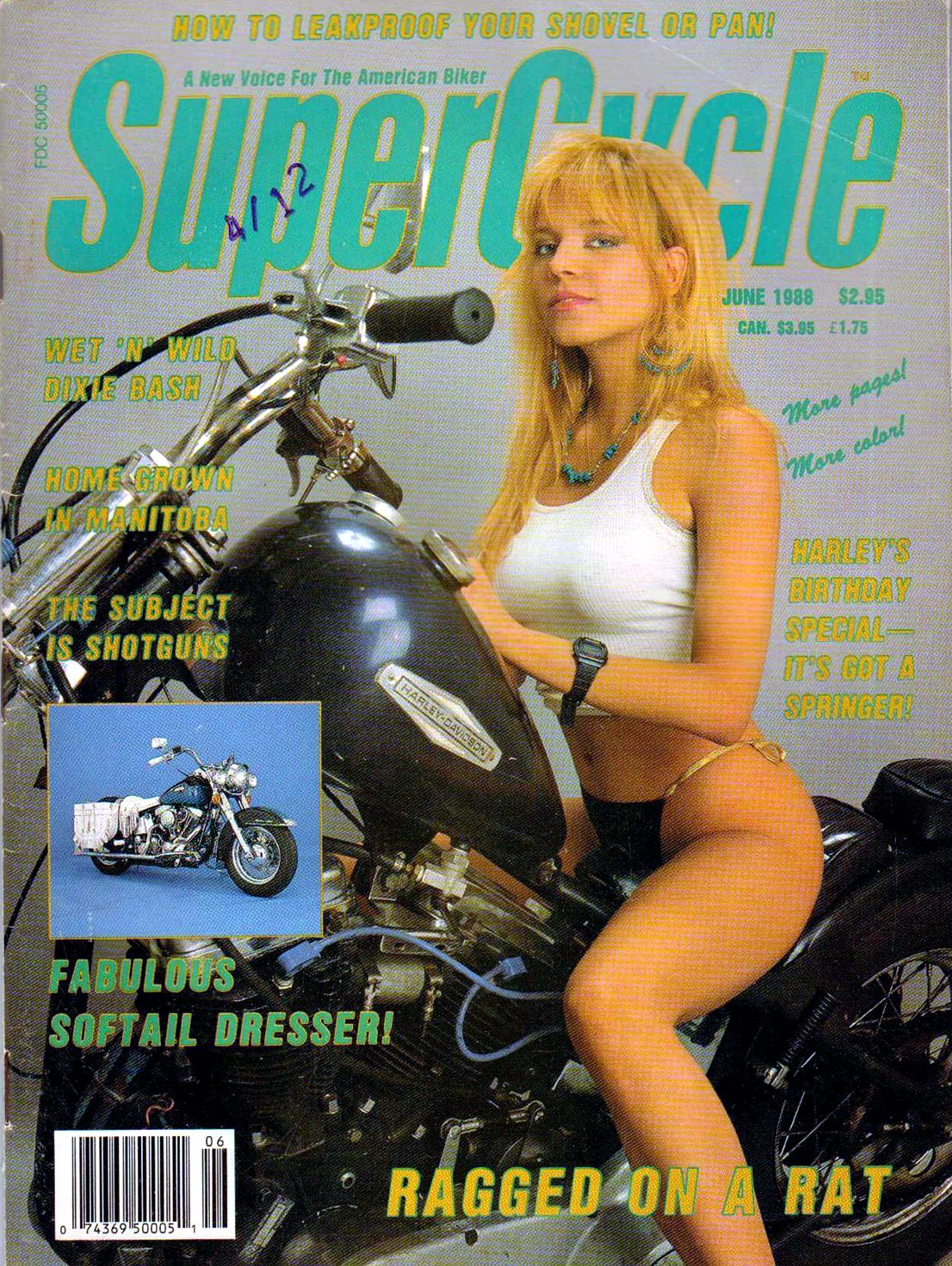 supercycle magazine cover sexy blonde