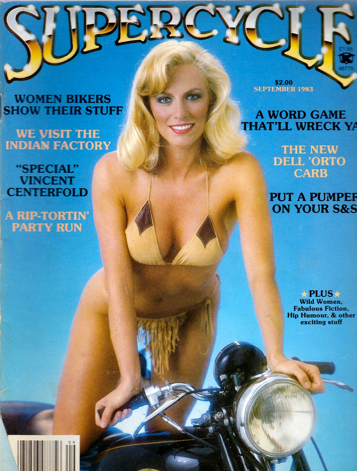 blonde bikini sexy supercycle cover