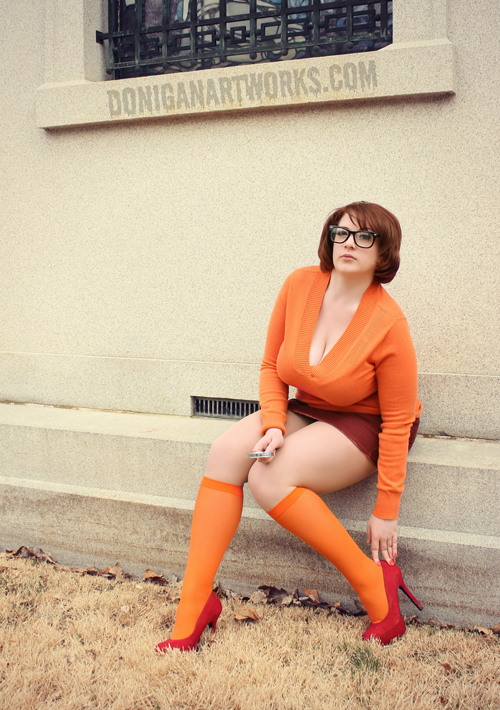velma scooby doo cosplay busty orange