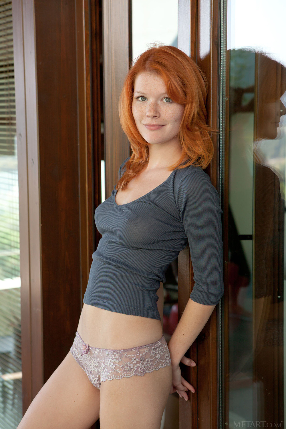 young redhead babe with nipples through tight shirt hot