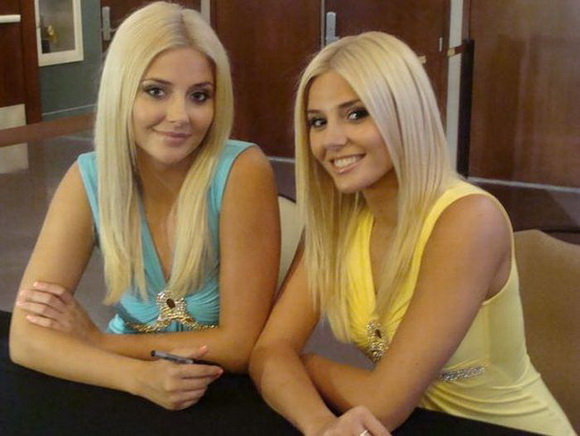 blonde twin sisters beautiful hot sexy babes