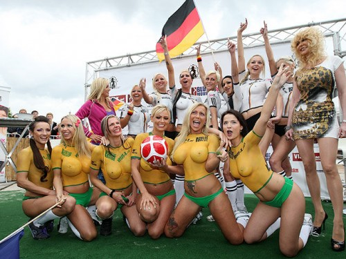 soccer babes in body paint hot