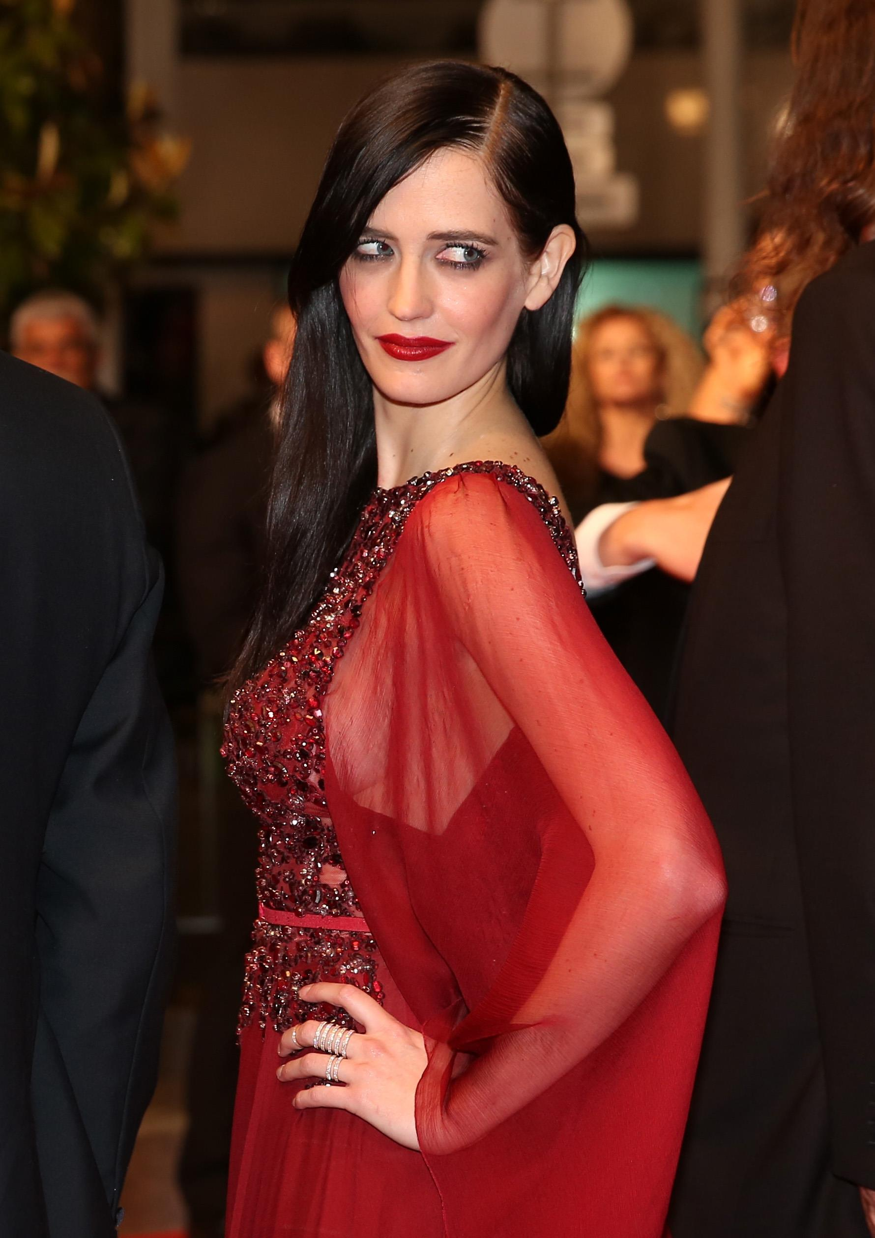 eva green on the red carpet star of dumbo and bond movies