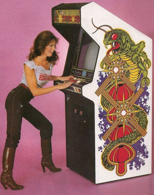 sexy video game ad 1980s centipede