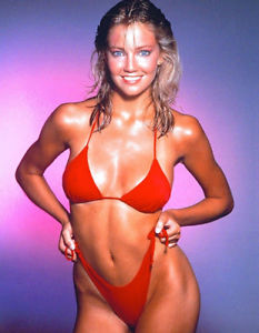 heather locklear in sexy red bikini