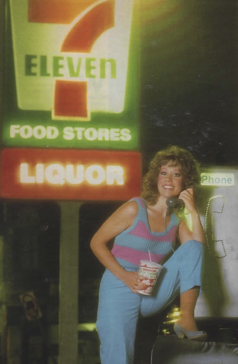 sexy babe at 7-11 retro nostalgic 1980s 80s