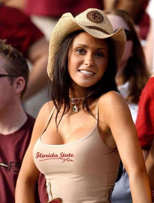 florida state tank top girl in cowboy hat