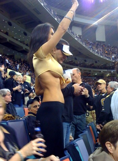 saints fan with revealing top nfl