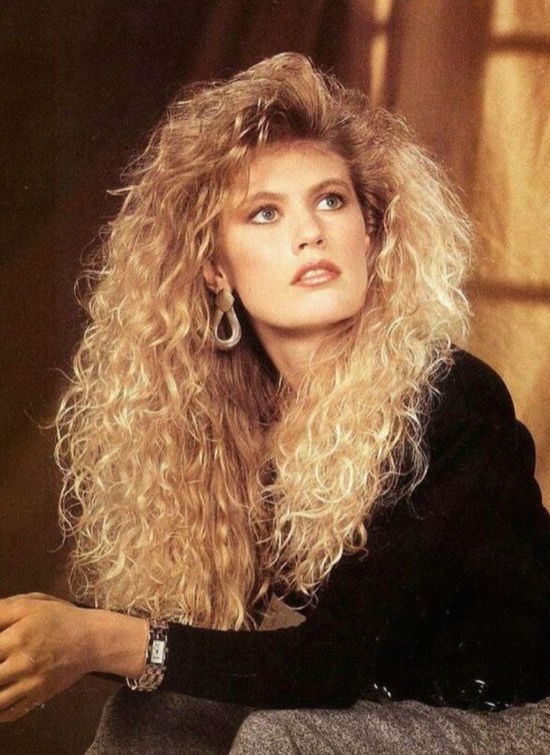 big blonde 1980s hair