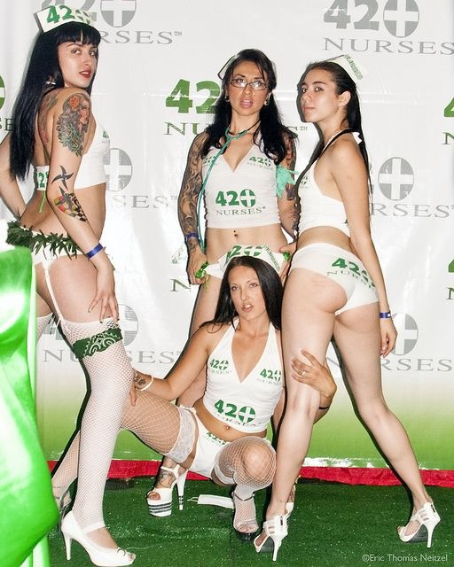 the 420 nurses doing their thing cannabis models