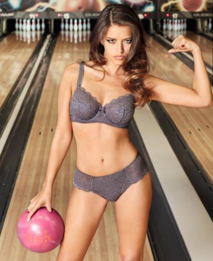 lingerie bowling is fun