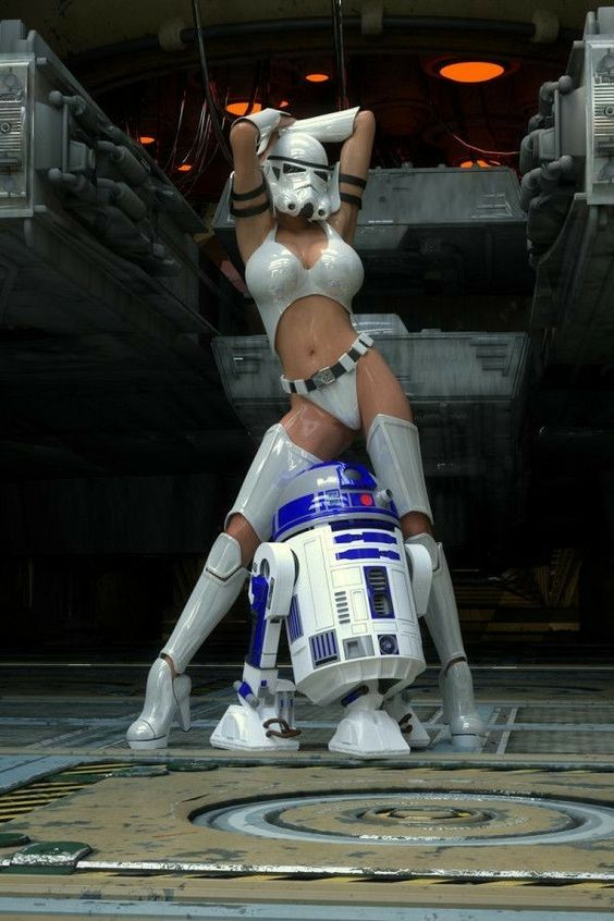 babe stormtrooper with r2d2